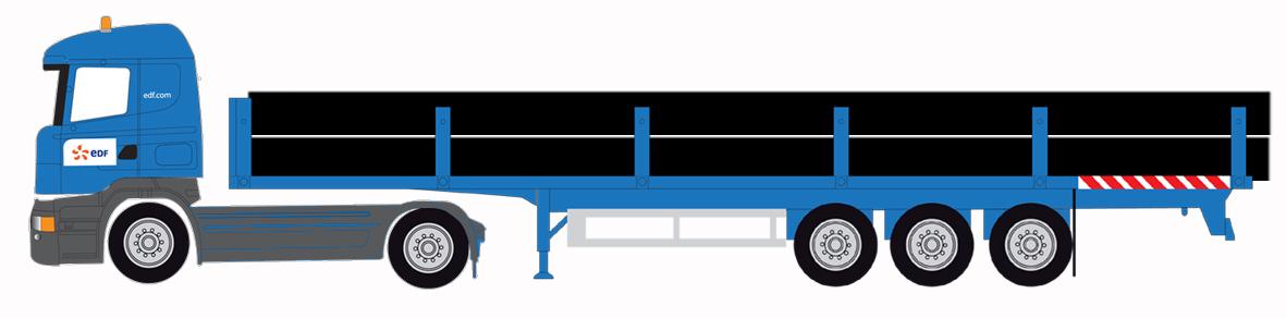 Scania porte tubes gris.